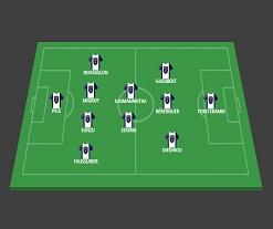 Sochaux   4 – 2 – 3 – 1