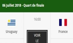 France - Uruguay en Quarts de Finale